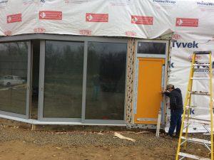 Installing the front door